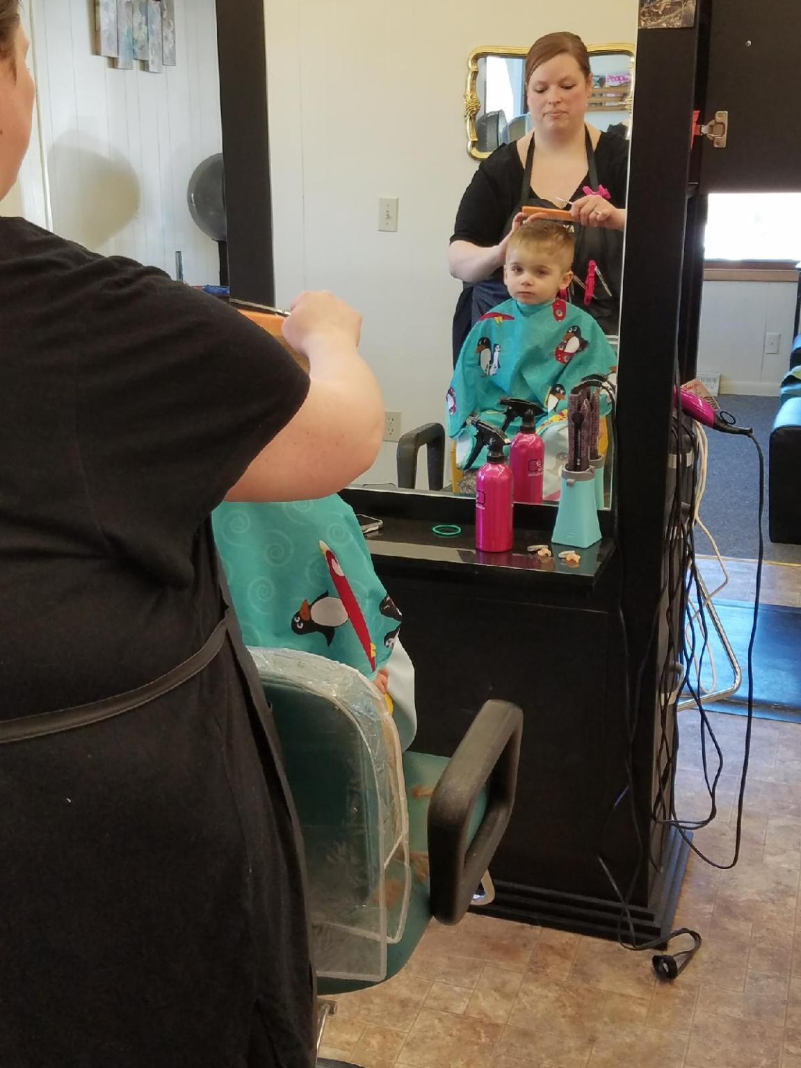 Child Getting First Haircut